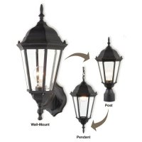 Royce Lighting Black Convertible Outdoor Light for Wall ...