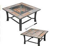 Outdoor Table Top Fire Pit Coffee Table W FREE Cover ...