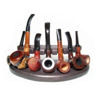 7 New Wooden Pipes Stand-showcase, Rack Holder for 7 ...
