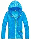 Z-SHOW Womens Super Lightweight Jacket Quick Dry Windproof Skin Coat-Sun Protection (Blue,K)