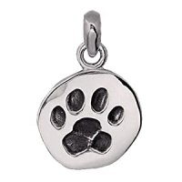 Hand Made .925 Sterling Silver Dog Paw Print Charm: Glitzs ...