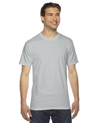 American-Apparel-Womens-Fine-Jersey-Short-Sleeve-T-Shirt-New-Silver-2XL