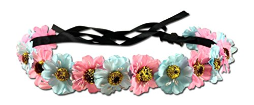 Festie Fever Light Up Hippy Flower Crown with LED
