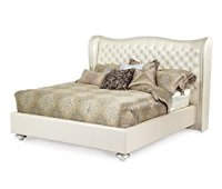 Amazon.com: AICO Hollywood Swank Creamy Pearl Tufted White ...