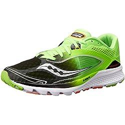Saucony Men's Kinvara 7 Running Shoe, Slime/Black, 9.5 M US