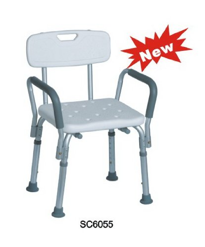 shower chair with back and armrests fishing loot card tms adjustable medical bathtub bench bath seat stool armrest white