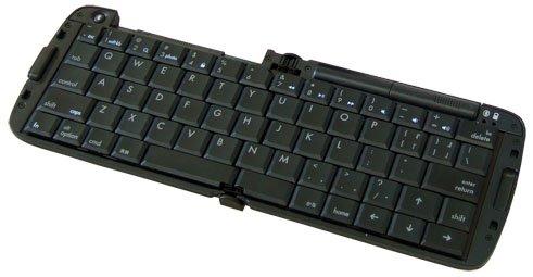 リュウド 折りたたみ式ワイヤレスキーボード iPhone5/iPad対応 iOS専用 Bluetooth HIDプロファイル マルチペアリング対応(4台) ブラック RBK-3200BTi