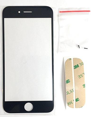 Mobile Expert 【Amazon即日出荷】iPhone 6 フロントパネル/液晶ガラス 黒 割れ修理用パーツ+iPhone6専用 フロントガラスデジタイザ用両面テープ 1枚 【Screen Tape Adhesive Sticker】+ Apple純正pentalobe screw 黒 2個  アイフォン6用ガラス ブラック 6Black