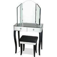 Azura Furniture Le Chambon Mirror Dressing Table Set ...