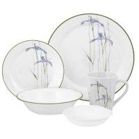 Corelle Impressions Shadow Iris 30-Piece Dinnerware Set ...