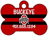 Ohio State Buckeyes Dog Tag Pet Id Tag Personalized w/ Your Pet's Name & Number