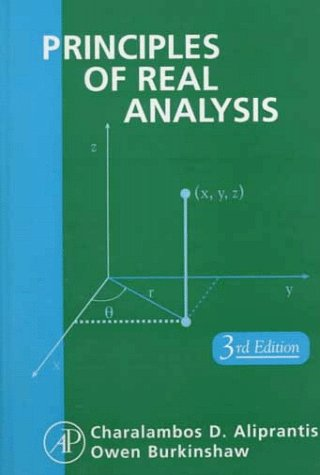 Principles of Real Analysis by Aliprantis
