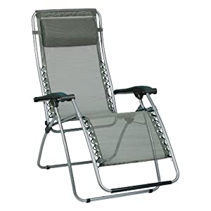 recliner lawn chairs folding bungee chair menards lafuma green rsx zero gravity outdoor patio