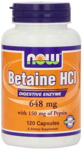 Now Foods Betaine HCl, 648 mg , 120  Capsules