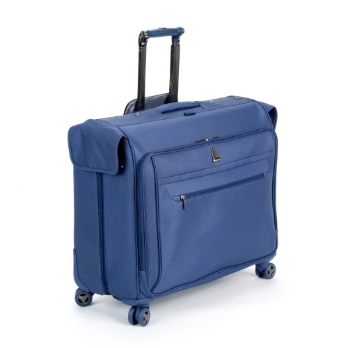 delsey luggage helium x pert lite ultra light 4 wheel spinner garment bag blue 45 inch reviews. Black Bedroom Furniture Sets. Home Design Ideas