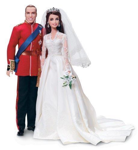 Barbie William and Catherine (Kate Middleton) Royal Wedding
