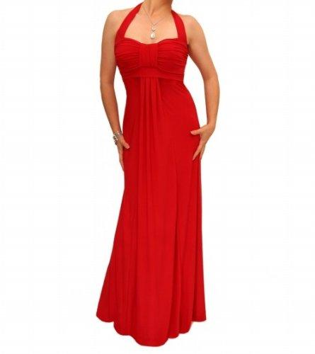 Blue Banana - Elegante Lang Kleid - Rot