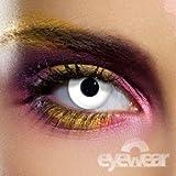 Halloween / Karneval / Fun - Crazy Kontaktlinsen weiss inkl. Aufbewahrungsbox