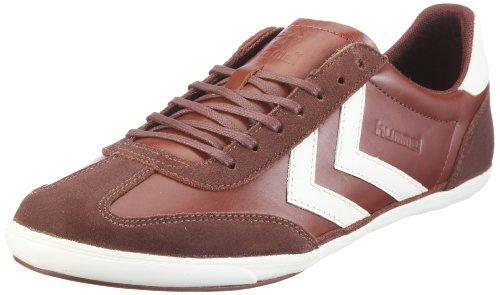hummel ROMA HERITAGE LOW 63-238-0702, Herren Sneaker, Braun (DARK LEATHER/PRISTINE WHITE 0702), EU 44