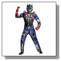 Disguise Hasbro Transformers Age of Extinction Movie Optimus Prime Classic Muscle Boys Costume, Small/4-6