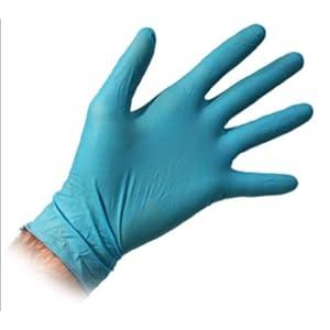 ถุงมือแพทย์สีฟ้า