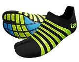 ZEMgear®TM Barefoot® - O2 Oxygen split toe - Barfußschuhe (Unisex) - Black/Lime Größe: 11 US (44)