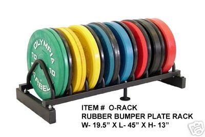 Olympic Bumper Plate Rack (Weights Not Included)