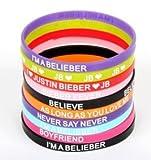 Justin Bieber Belieber Bracelet Silicone Wristband Set of 10 Pcs