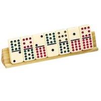 Natural Wood Finish Wooden Tilted Domino Tile Holder (Set ...