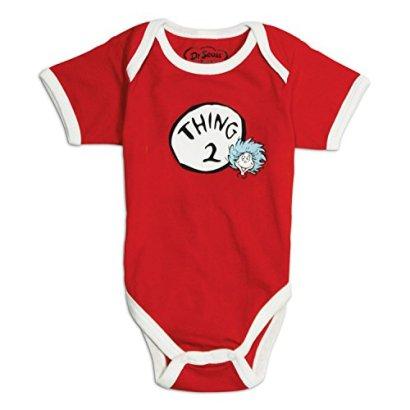 Bumkins-Unisex-baby-Newborn-Dr-Seuss-Thing-2-Short-Sleeve-Bodysuit