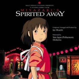 Cover art for the movie soundtrack to Spirited Away, by Joe Hisaishi