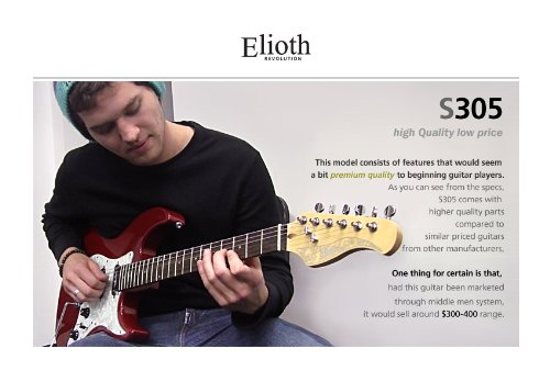 lowest price elioth s 305 electric guitar on sale guitars. Black Bedroom Furniture Sets. Home Design Ideas