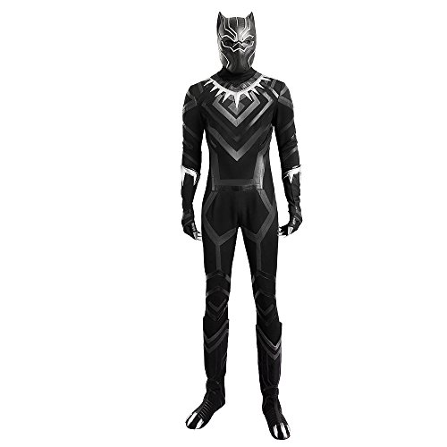 MLYX Men's Captain America Civil War Black Panther Cosplay Costume Pineapple Line Knitted Outfit Black (XX-Large)
