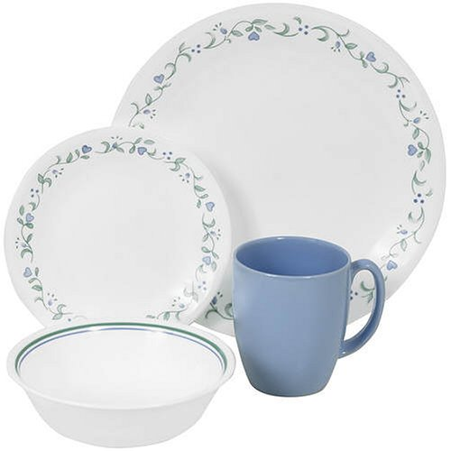 Corelle Livingware 16-Piece Dinnerware Set with Mug, Service for 4, Country Cottage