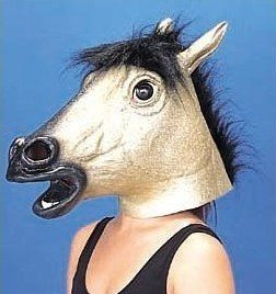 golden horse mask