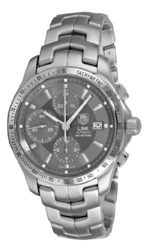 TAG Heuer Men's CJF2115.BA0594 Link Automatic Chronograph Grey Dial Watch