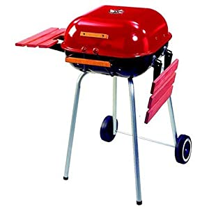 Meco Series 4100 Model 4106 Square Utility Charcoal Grill, Red