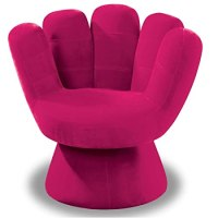 Upholstered Pink Chairs for Girls' Rooms