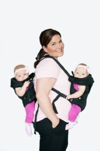 NEW Stuff 4 Multiples TwinTrexx 2 Twin Baby Carrier Black ...