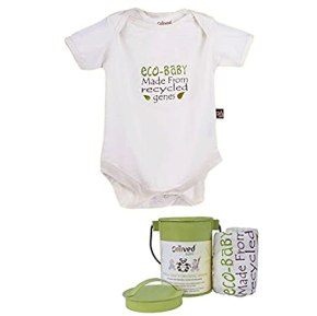 Omved Baby Onesies - I Recycle Organic for 3 - 6 Months