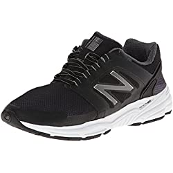 New Balance Men's M3040 Optimum Control Running Shoe,Black,10 D US