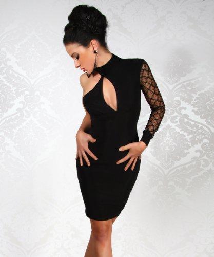 LH-Dessous - 11709 Größe L-XL.Raffiniert geschnittenes Kleid mit einem Ärmel aus Spitze. Das Kleid wir am Hals seitlich mit 2 Knöpfen geschlossen