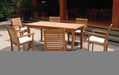 Solide 3 Gartenmöbel-Set aus Teakholz