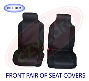 Renault Clio (0913) Front Cloth Car Seat Set Cover Blue