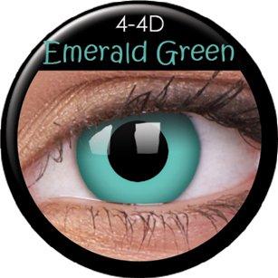Farbige Kontaktlinsen crazy Kontaktlinsen crazy contact lenses Fun Kontaktlinsen Grün green 1 Paar mit 60ml Pflegemittel und Linsenbehälter