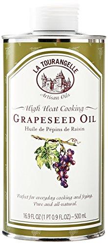 La Tourangelle Grapeseed Oil - Cooking & Body Care - Expeller-Pressed, Non-GMO, Hexane-Free, Kosher -  16.9 Fl. Oz.