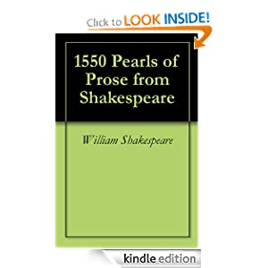 1550 Pearls of Prose from Shakespeare
