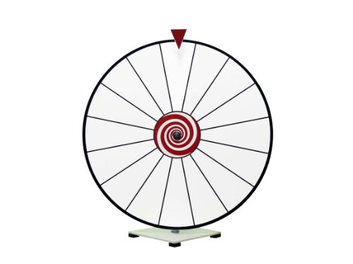 24 Inch Dry Erase Spinning Prize Wheel White Face