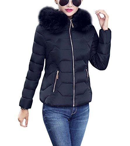 Brinny Damen Mädchen Westen Mantel Parka Daunenjacke Winter Warm Sleeve lang Jacke Kapuze Fell künstlich 151