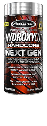 MuscleTech Hydroxycut Hardcore Next Gen, Next Generation Weight Loss & Extreme Sensory, 180 Capsules